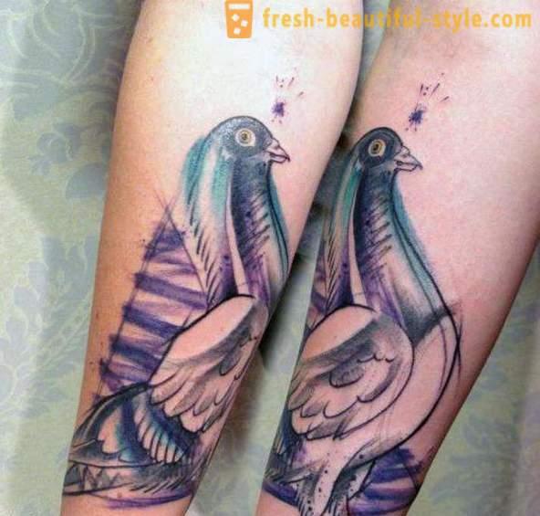 Chlapci s dlhými vtáky